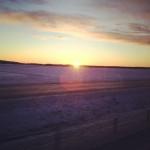 Soluppgång på väg till Skövde