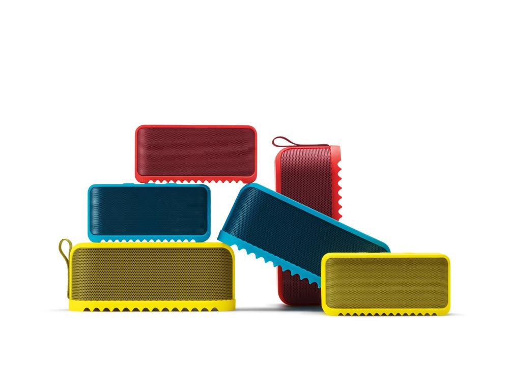 Färgglada högtalare