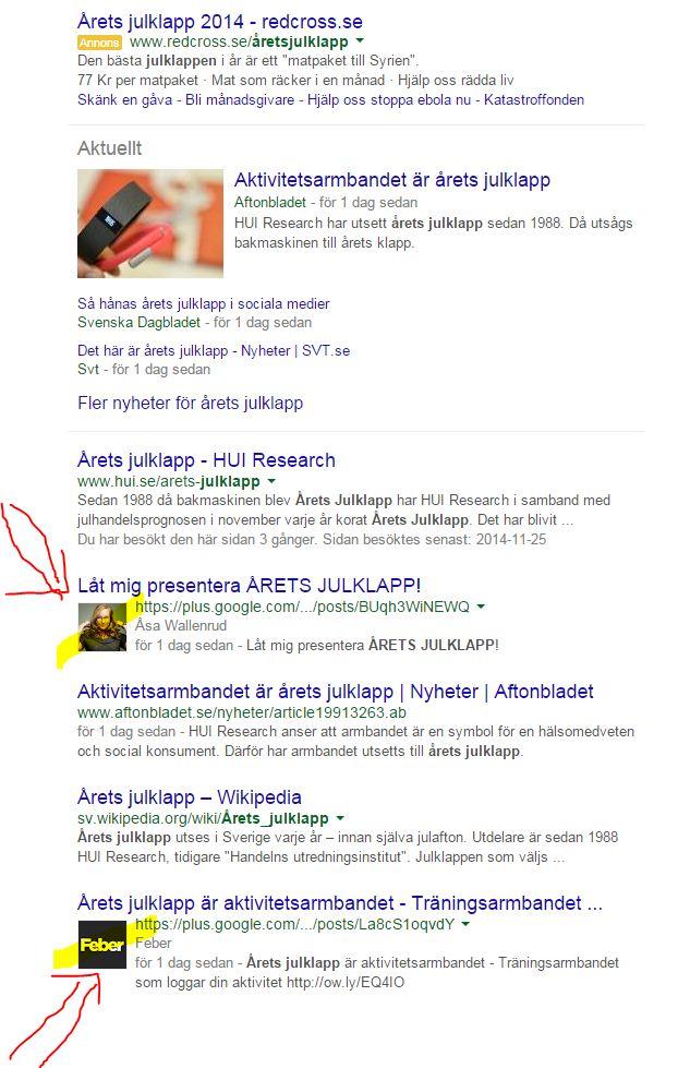 Jag krossar Feber på Google