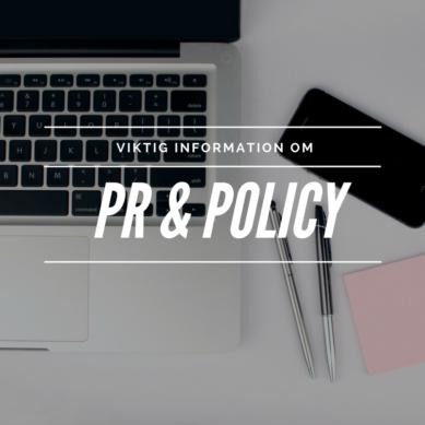 PR & Policy