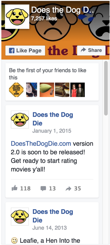 https://www.facebook.com/doesthedogdie/
