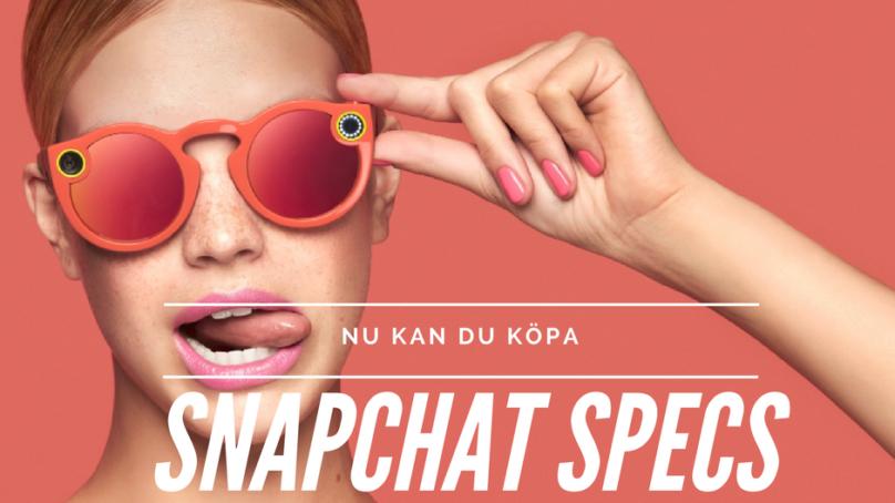 Nu kan du köpa Snapchats specs, sugen?