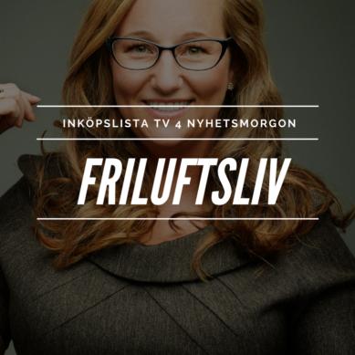 Inköpslista TV4 Nyhetsmorgon – Friluftsliv