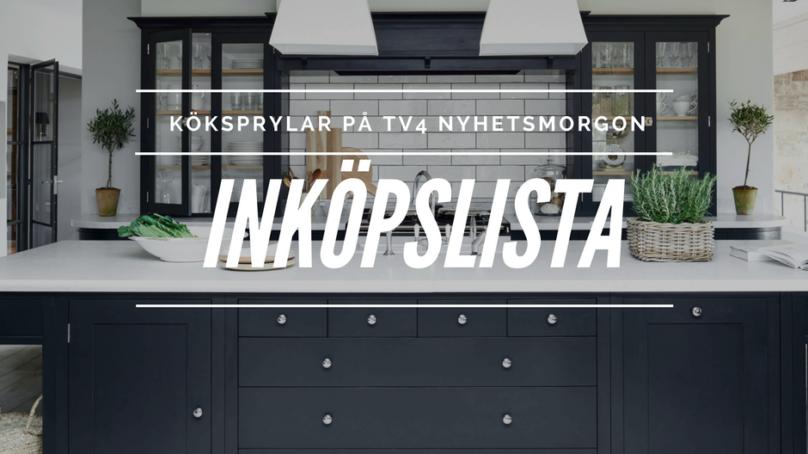 Inköpslista TV4 Nyhetsmorgon – köket