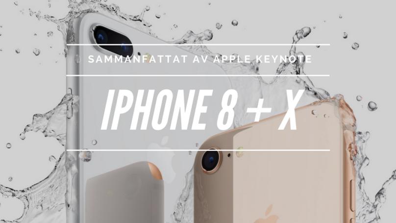 iPhone 8, X och Watch 3