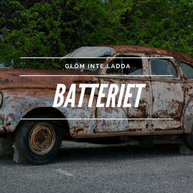 Urladdade bilbatterier vanligt problem – ändå är de få som gör något åt det