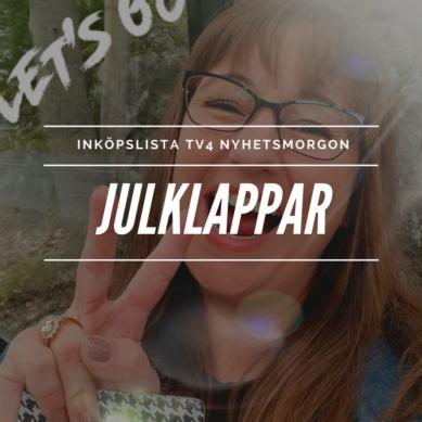 Inköpslista TV4 Nyhetsmorgon – julklappar