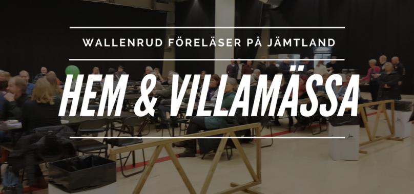 Föreläsning på Jämtlands Hem och Villamässa – en succé!