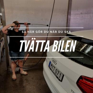 Hur tvättar jag bilen – steg för steg