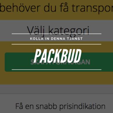 Låt dina saker lifta genom Sverige med Packbud