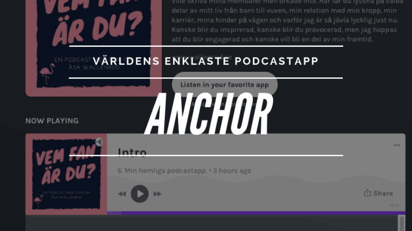 Så gör du enklast en podcast – Anchor