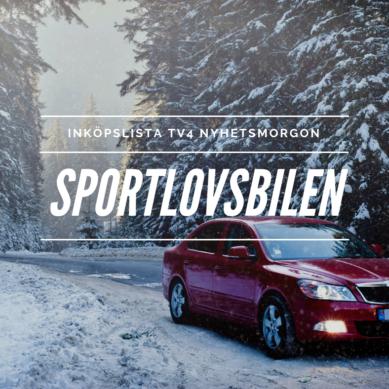 Inköpslista TV4 Nyhetsmorgon – sportlovsbilen