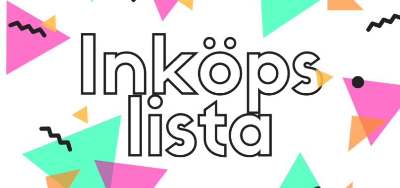 """Inköpslista TV4 Nyhetsmorgon """"Sommarfin med maskin"""""""