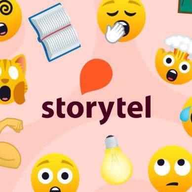 Recensera med emojis – Storytels nya idé