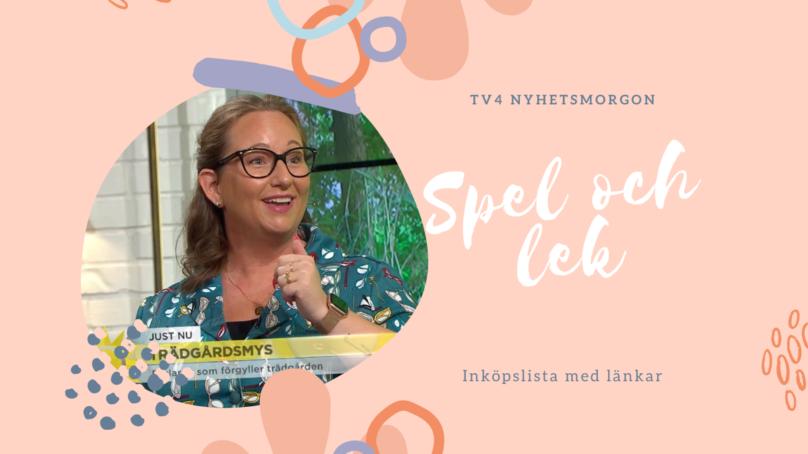 Inköpslista TV4 Nyhetsmorgon – Spel inomhus!