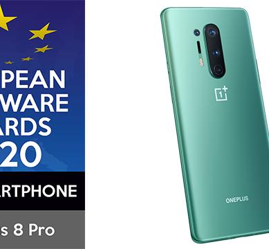 OnePlus 8 Pro vinner Bästa Smartphone 2020 vid European Hardware Awards