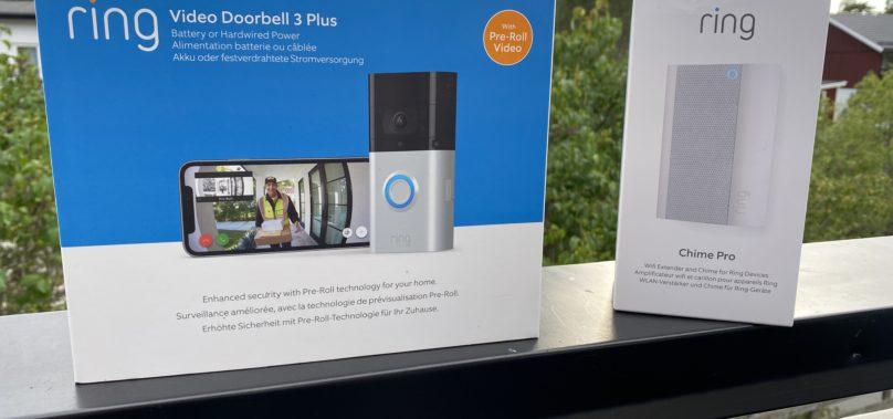 Ring Video Doorbell 3 plus och Chime Pro